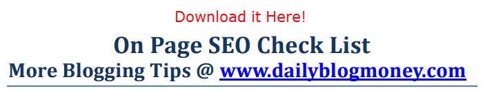 seo check list